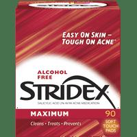 Stridex Medicated Acne Pads, Maximum Strength, 90 Ct