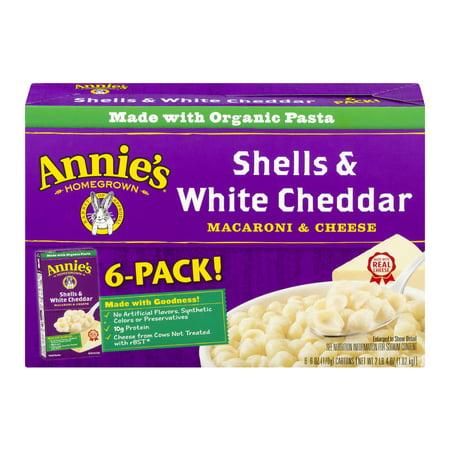 Annie's ® Natural Shells & White Cheddar Macaroni & Cheese 6 ct 36 oz Box, 6.0 OZ