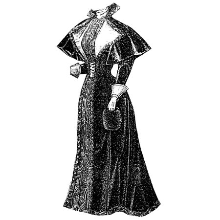 Sewing Pattern: 1894 Velveteen Costume with Cape Pattern - Walmart.com