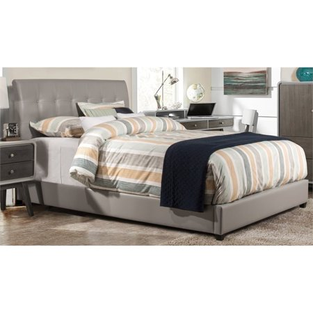 Hillsdale Furniture Lusso King Bed with Bedframe, Grey Faux -
