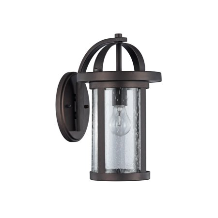 Chloe  Transitional 1-light Oil Rubbed Bronze Outdoor Wall Sconce Artist Bronze Outdoor Wall