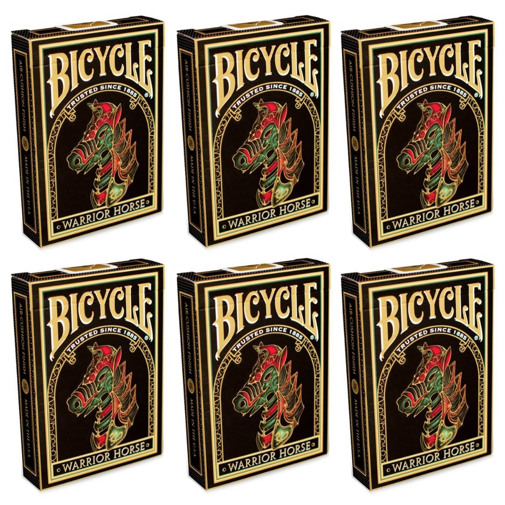 Bicycle Warrior Horse Collectible Playing Cards 6 Sealed Decks #1027282 by The United States Playing Card Company