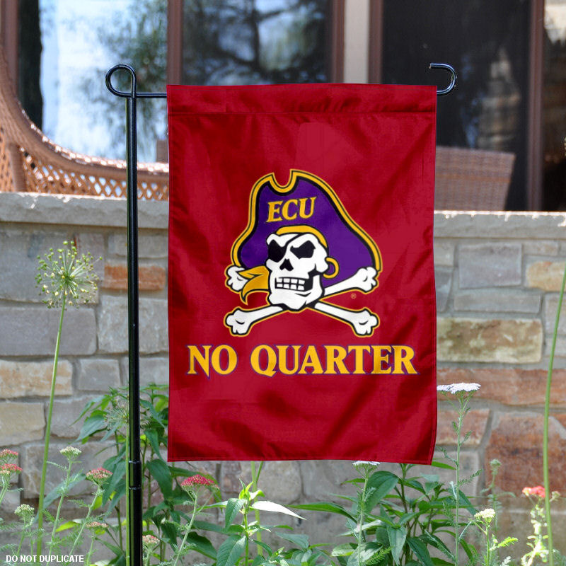 East carolina pirates no quarter 13 quot x 18 quot college garden flag