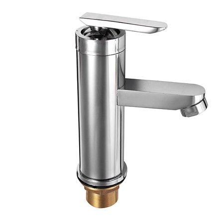 Waterfall Brushed Chrome mixer tap Waterfall Bathroom Basin Faucet Single Handle Sink Mixer Tap 17cm Silver