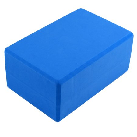Gym Sports Training EVA Foam Rectangle Shaped Pilates Yoga Block Brick Blue