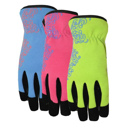 MIDWEST QUALITY GLOVES Ladies Max Performance Synthetic Palm Glove- Large