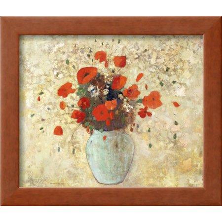 Vase of Poppies Framed Print Wall Art By Odilon Redon - Walmart.com