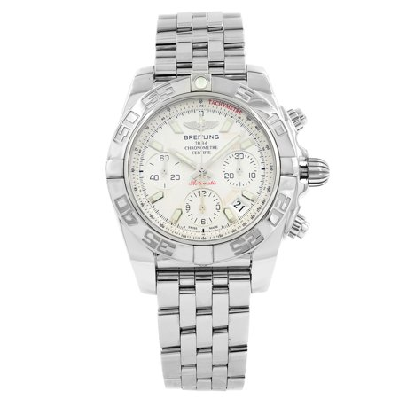 Breitling Chronomat 41 Steel Automatic Silver Mens Watch AB014012/G711-378A