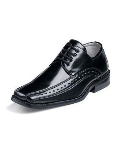 Stacy Adams DEMILL Youth Boys Black Laces Oxford Dress Shoes (11) by Stacy Adams