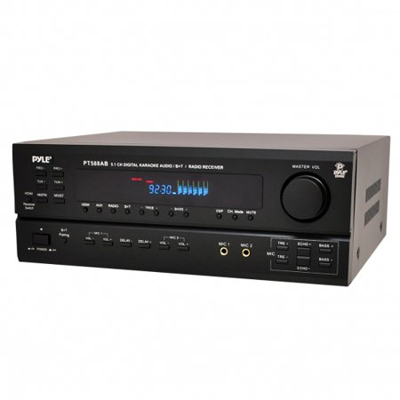 PYLE PT588AB - 5.1 Channel Home Theater AV Receiver, BT Wireless Streaming (HDMI, 4K Ultra & 3D TV Pass-Through Support)
