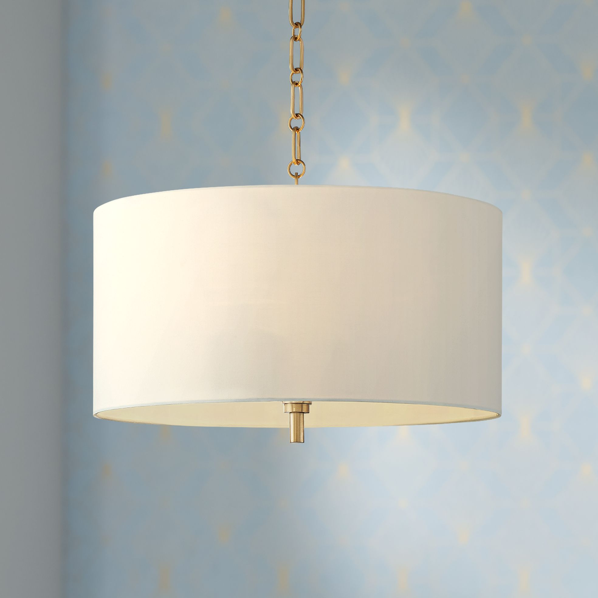 Barnes And Ivy 20 Quot Wide Warm Gold Pendant Light With White