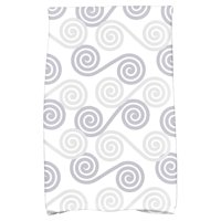 "Simply Daisy 16"" x 25"" Rip Curl Geometric Print Hand Towel"