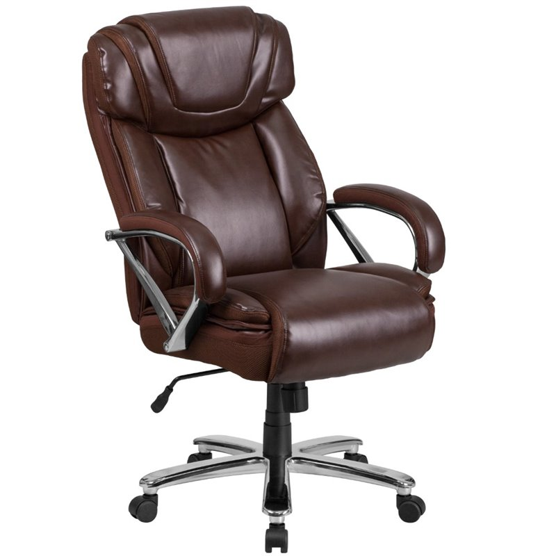 Scranton & Co Faux Leather Office Chair In Brown