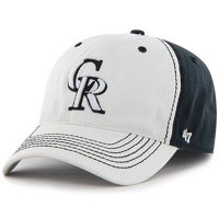 pretty nice bc26a b5317 Product Image Colorado Rockies  47 Phase One Flex Hat - White Black - OSFA