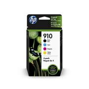 HP 910 Black, Cyan, Magenta, & Yellow Original Ink, 4 Cartridges (3YQ26AN)