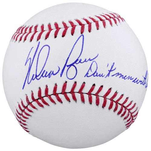 Nolan Ryan Texas Rangers Fanatics Authentic Autographed Baseball with Don't Mess With Texas Inscription - No Size