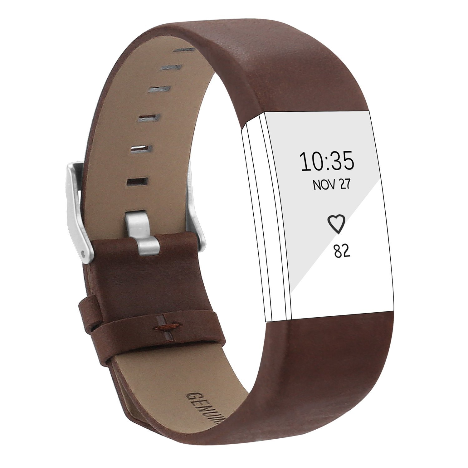 AdePoy Bands for Fitbit Charge 2 Replacement Leather Sport Strap for Charge 2 Wristband