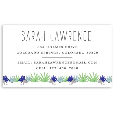 Personalized Business Cards - Hello Cactus - Personalized 3.5 x 2 Business Card