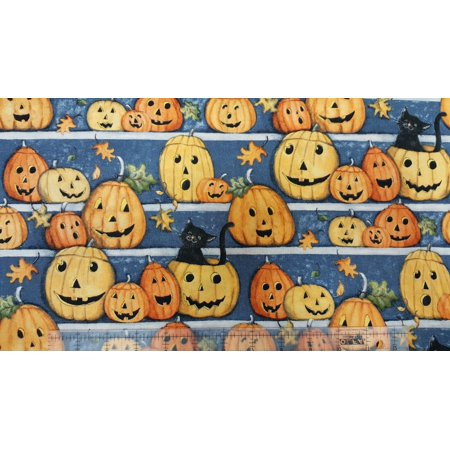 Creative Halloween Arts And Crafts (Halloween 54726 Pumpkin Stares And Cats Springs Creative 100% Cotton Fabric By The)