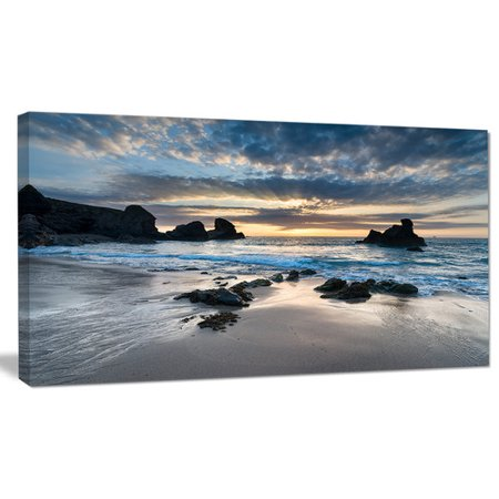 Design Art 'Beautiful Porthcothan Bay' Photographic Print on Wrapped Canvas