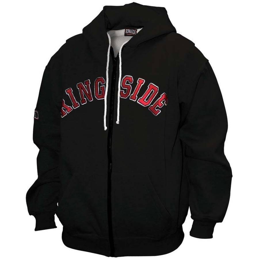 Zip-Up Hoodie with Hanging Gloves