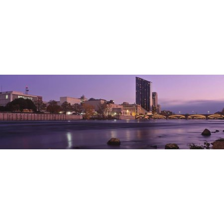 Buildings at the Waterfront, Grand Rapids, Kent County, Michigan, USA Print Wall Art By Panoramic Images - Halloween Usa Grand Rapids