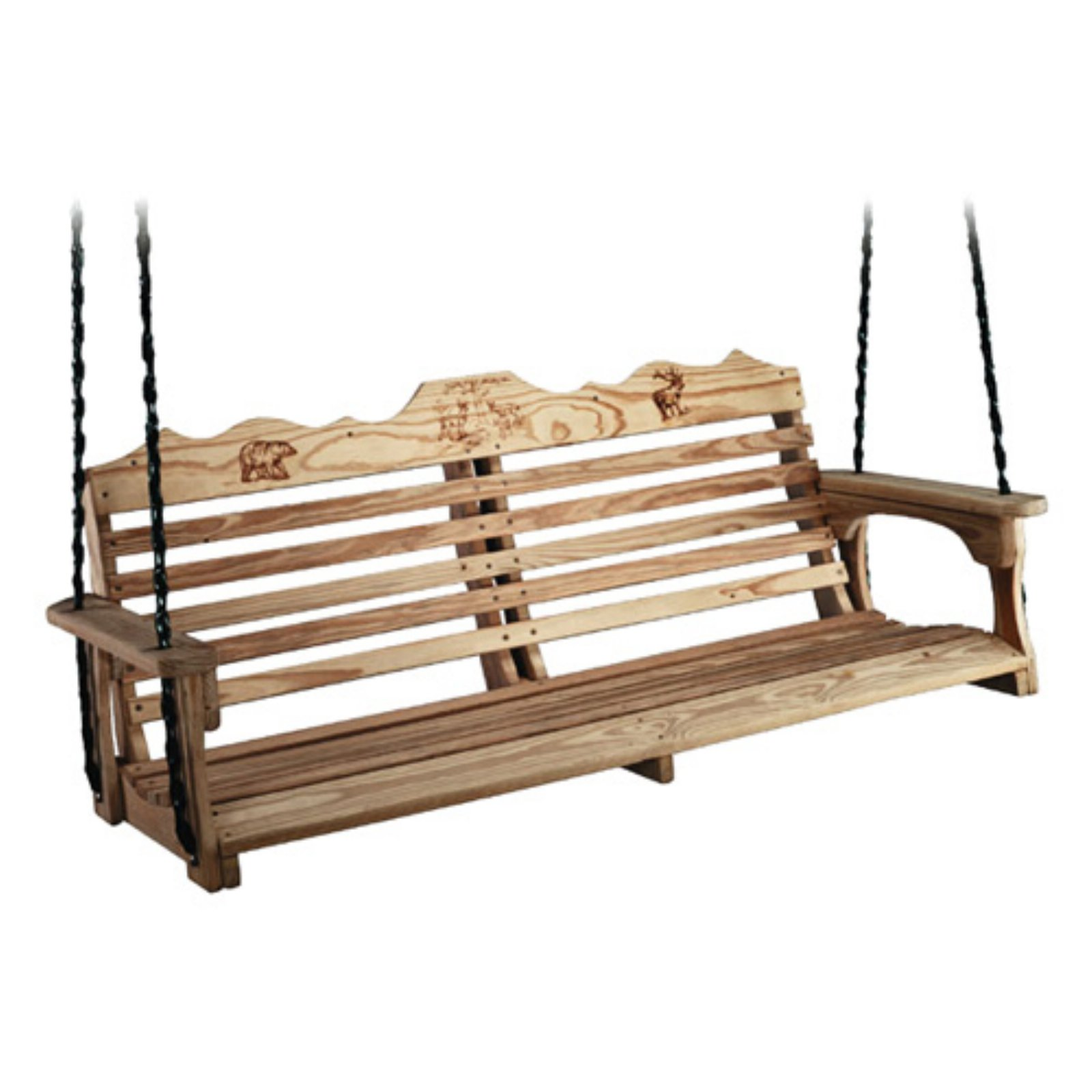 Beecham Swing Co. Deluxe Wildlife Series 5 ft. Treated Wood Porch Swing