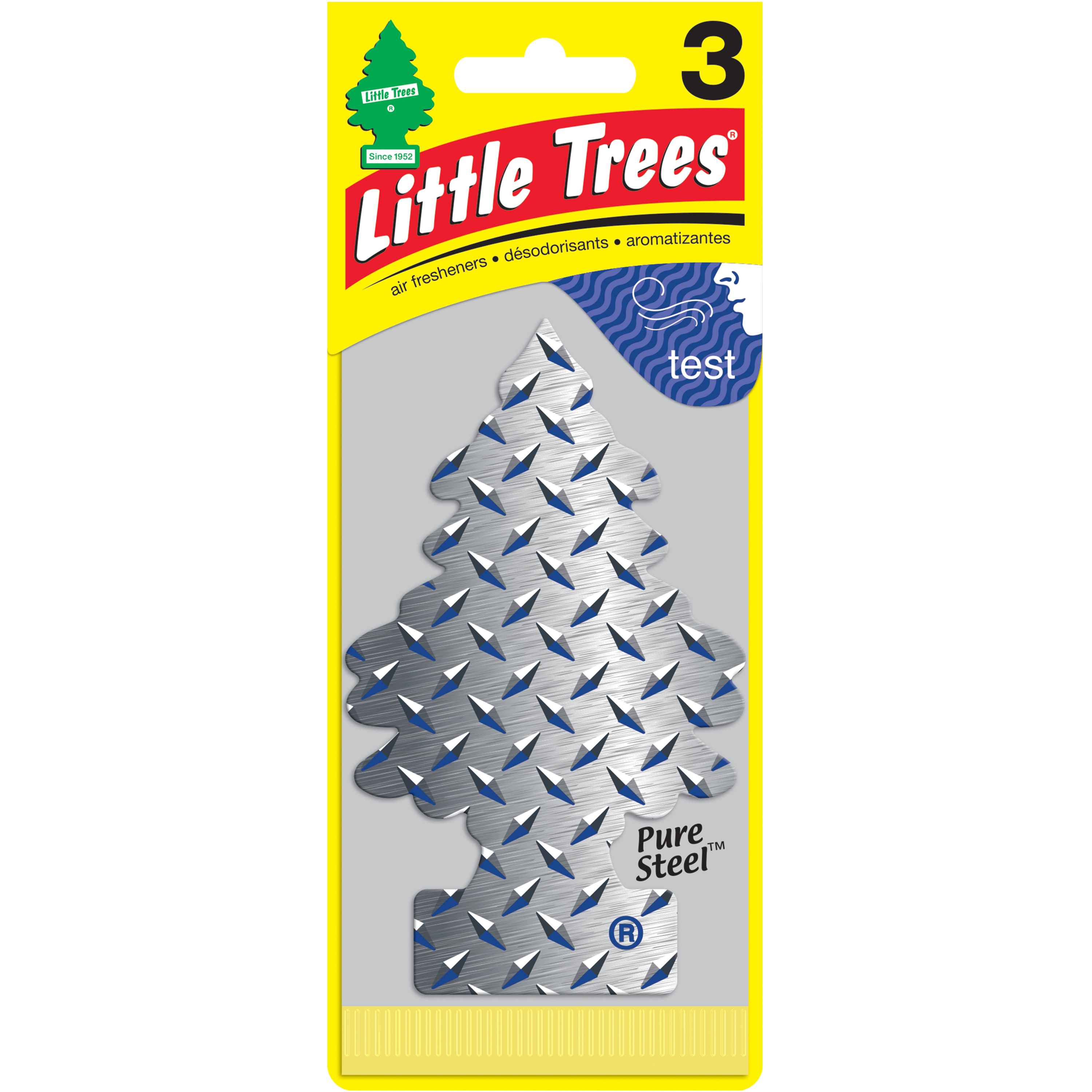 LITTLE TREES air freshener Pure Steel 3-Pack