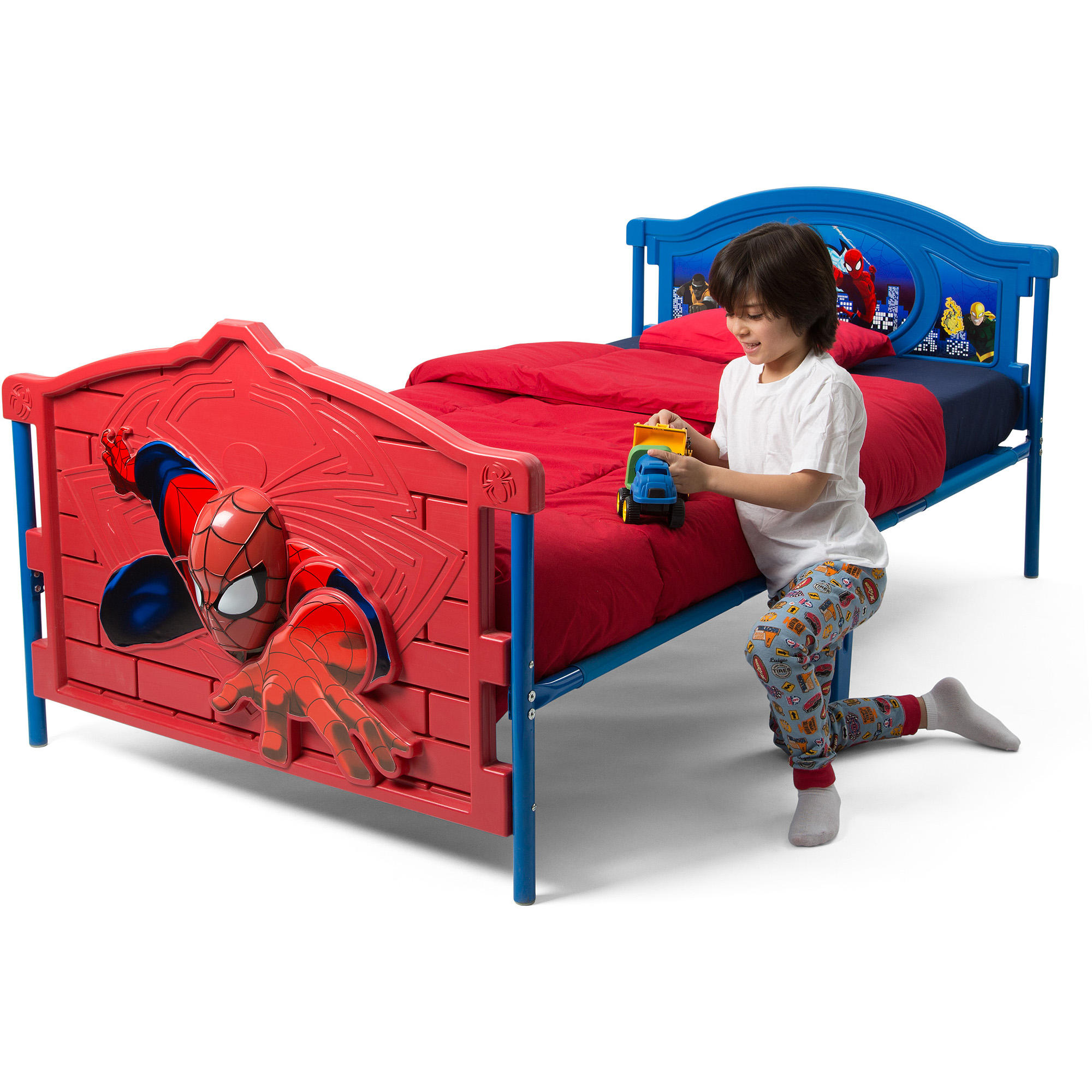 Marvel Spider-Man 3D Twin Bed