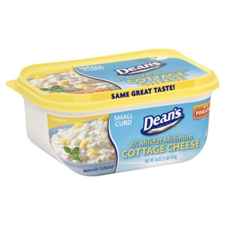 Deans 4 Milkfat Small Curd Cottage Cheese With Pineapple 16 Oz
