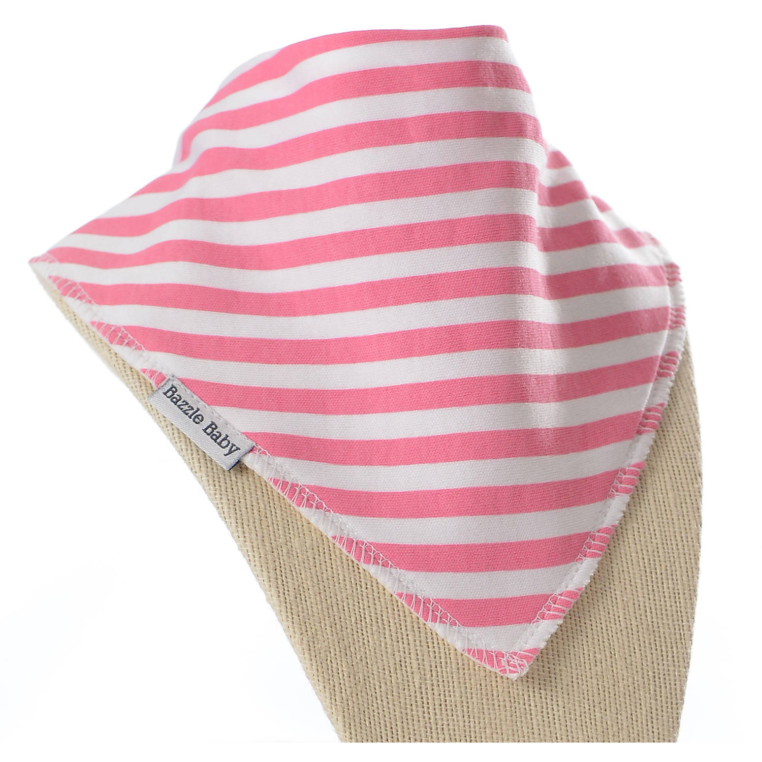 Bazzle Baby Newborn Toddler Pretty Pink Stripe Banda Bib