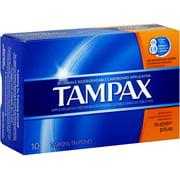 6 Pack - Tampax Biodegradable Applicator Tampons, Super Plus 10 ea