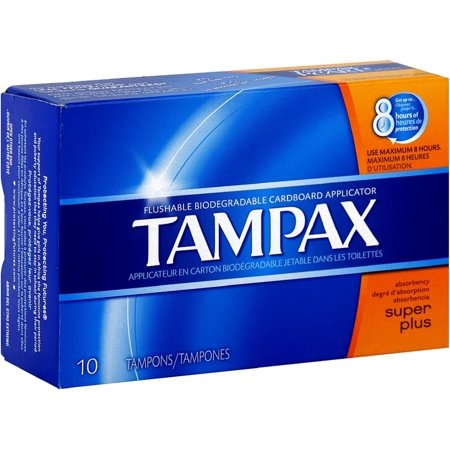 Tampax Biodegradable Applicator Tampons, Super Plus 10 ea