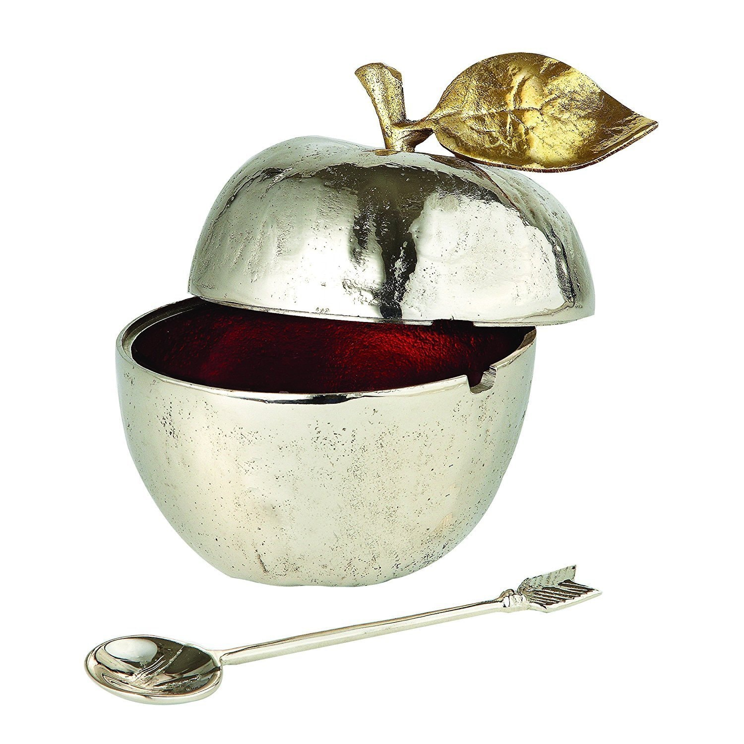 Click here to buy Leeber Golden Vine Honey Pot with Spoon, 2.5 X 2.5 X 4 In. by Leeber.