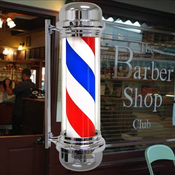 Ktaxon Modern Barber Shop LED Light Sign Hair Salon Pole