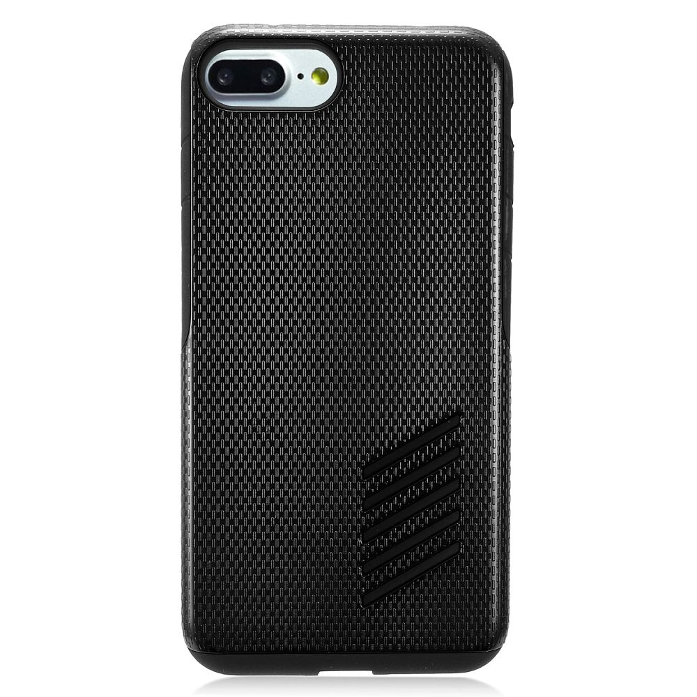 EagleCell Hard Dual Layer TPU Case For Apple iPhone 8 / iPhone 7 - Black