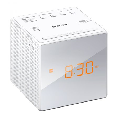 Sony ICFC1W Alarm Clock With Fm/am Radio - White (Sony Dual Alarm Clock)