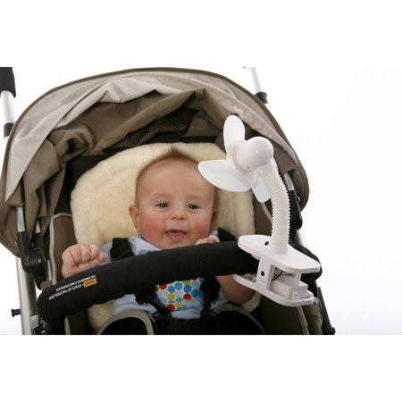 DREAMBABY SOFT FOAM BLADES WHITE STROLLER FAN