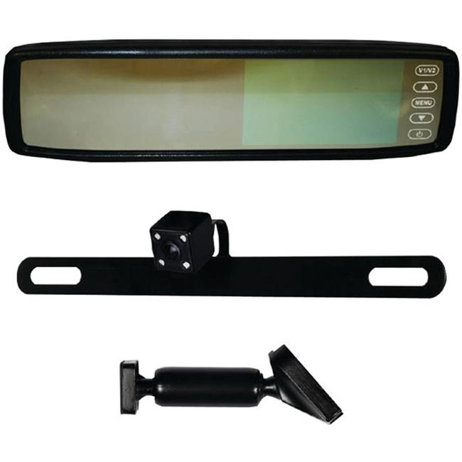 Ibeam TE-RVMCIR 4. 3 inch Replacement Rearview Mirror with IR LED Camera
