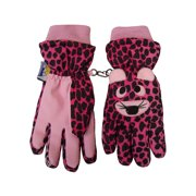 NICE CAPS Girls Waterproof and Thinsulate Insulated Cute Tiger Face Ski Snow Winter Gloves - Fits Kids Toddler Childrens Youth Child Sizes For Cold Weather