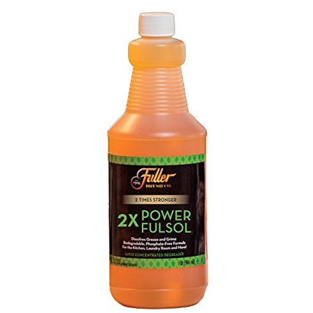 Fuller Brush 2X Power Fulsol – Super Concentrated Degreaser – Dissolves Grease & Grime - 1 Qt.