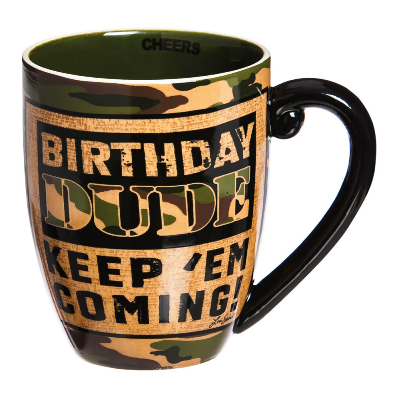 Birthday Dude Ceramic Cup O'Joe, 18 oz.