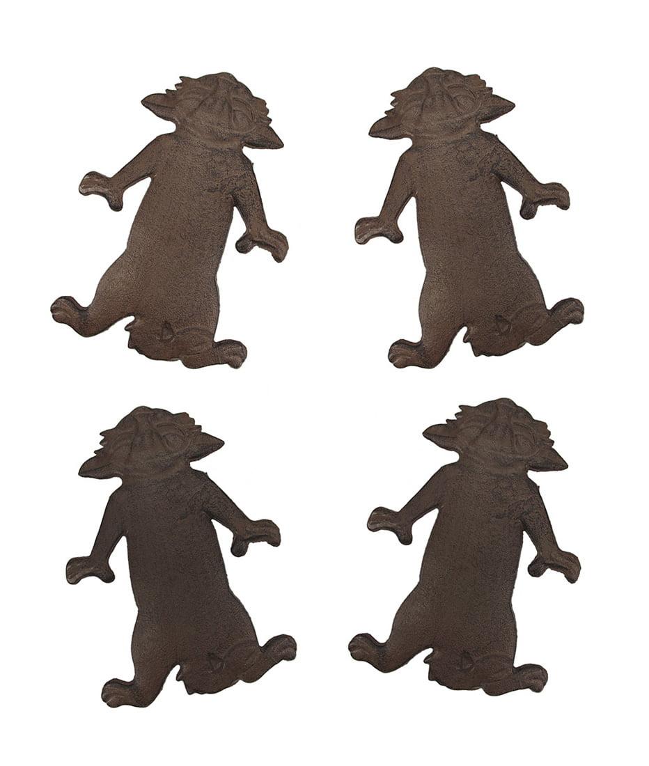 Set of 4 Cast Iron Kitty Cat Garden Stepping Stones by Upper Deck, LTD
