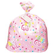 (3 Pack) Jumbo Plastic Polka Dot Girl Baby Shower Gift Bag, 44 x 36 in, Pink, 1ct - Graduation Gift Bags