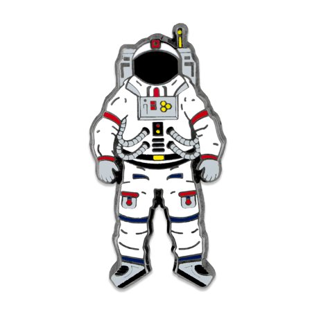 PinMart's Outer Space Lover Astronaut Space Suit Fun Cool Enamel Lapel Pin - Cool Labels