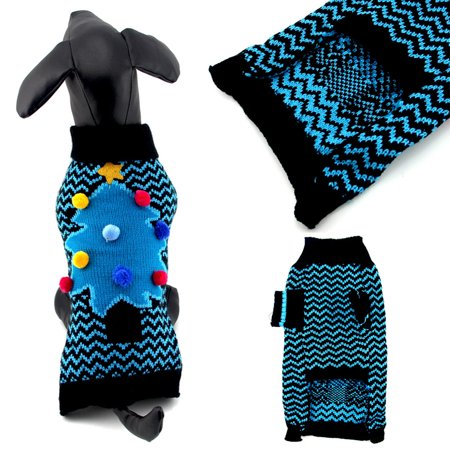 Mosunx Cool And Cute Christmas Tree Sweater Clothing Pet Cat Dog - Cool Dog Costumes