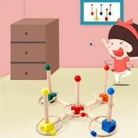 Hoop Toss Wooden Ring Toss Quoits Garden Game Pool Toys