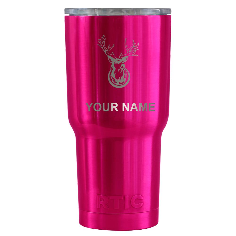 TREK 30 oz Tumbler Deer Head on Hot Pink Translucent - Walmart.com