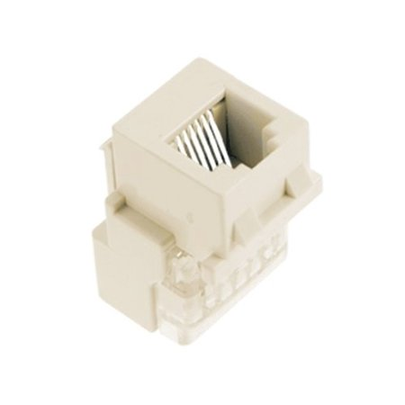 Rj25 Telephone (On-Q F9042LAV1 RJ25 Phone Jack, Light Almond, Universal keystone connector ideal for phone connections By LegrandOnQ )