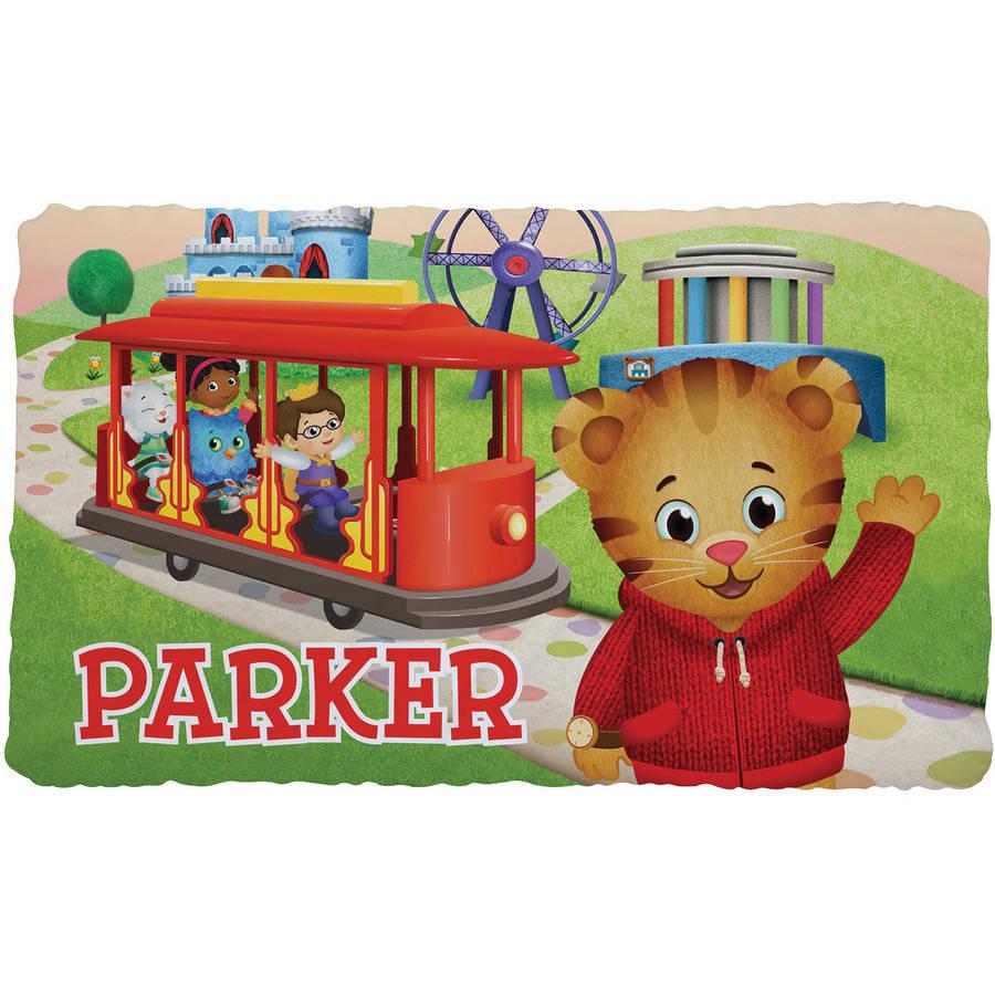 Personalized Daniel Tiger Friends Fuzzy Throw Blanket